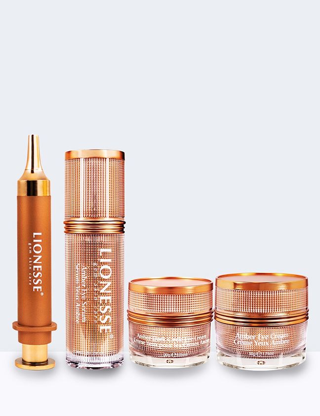 Four products in Amber Collection