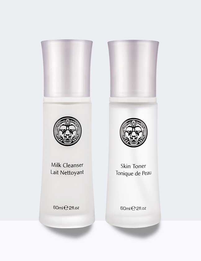 white pearl two step cleansing kit